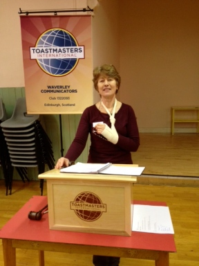 Aideen O'Malley, Toastmaster