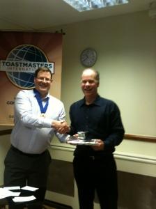 Brian and David Dick (outgoing Treasurer)