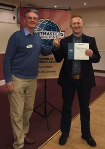Jacek Lasota wins first place in the International speech Contest