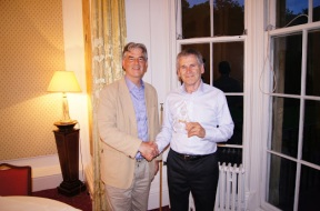 Toastmaster of the year: Paul Bailey (right)